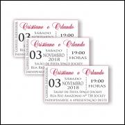 Convites Individuais 100 Unidades