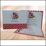 Convite Aniversário Infantil  10 x 14 cm  - Uma Dobra + Saquinhos  Plásticos (50 Unidades)