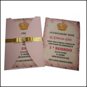 Convite Rustico (25 Unidades)