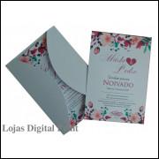 Convite + envelopes brancos (100 Unidades)