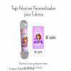 100 Tags Adesivas Personalizadas para Tubetes