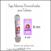 300 Tags Adesivas Personalizadas para Tubetes