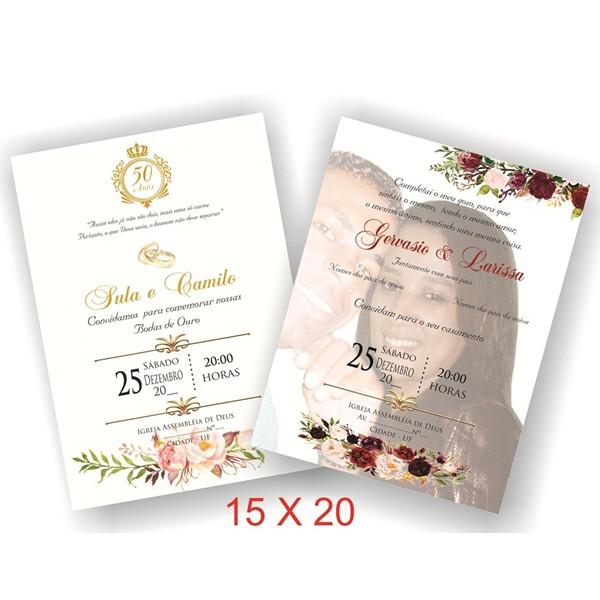 Convite de Casamento 15 X 20