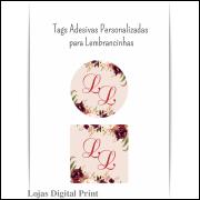 500 Tags Adesivas Personalizadas para lembrancinhas